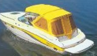 Ameri-brand yellow boat cover